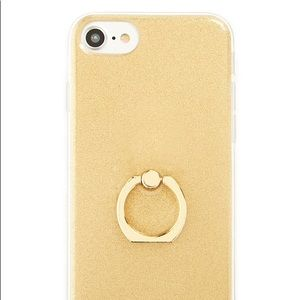 Accessories - Brand new gold sparkly iPhone case 6/7/8